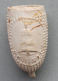 Model Izabe, met afbeelding van Klok/Bel en tekst 'De Klok', waarschijnlijk geen merk maar een reclame pijp uit de 19e eeuw