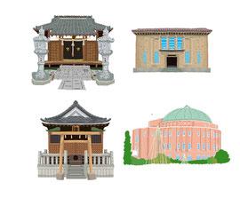 神社 仏閣 史跡 両国公会堂 東京都復興記念館 押上天祖神社