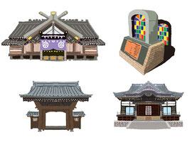 神社 仏閣 史跡 東京大神宮 金沢市との有効交流都市協定締結記念碑 三宝寺 御成門