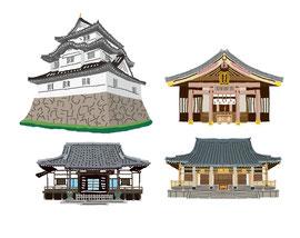 神社 仏閣 史跡 大多喜城 霊巌寺 円乗院 愛宕神社