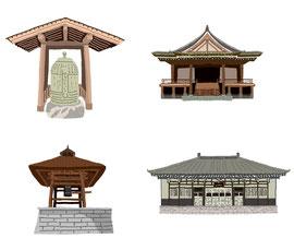 神社 仏閣 史跡 銅製梵鐘 道場寺 禅定院