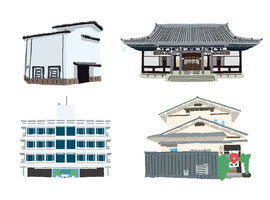 神社 仏閣 史跡 斎田記念館 NHK放送博物館 青松寺 店舗
