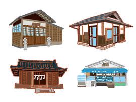 神社 仏閣 史跡 老舗店舗 漱石公園
