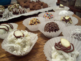 Almond Joy Truffles and Chocolate Truffles