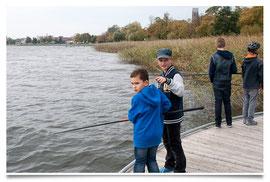 angeln vom Steg