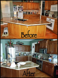 Cabinetry jna painting provides quality cabinet for Can i restain my kitchen cabinets