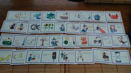 Zeitkarten klein - ideal für Lenormand