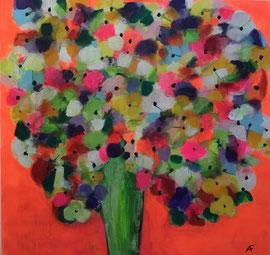 Mille Fleurs 5 (100x100cm), Acryl auf Leinwand