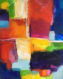 Felder (100x120cm), Acryl auf Leinwand