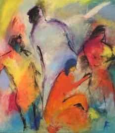 Die Seele (70x80cm), Acryl auf Leinwand