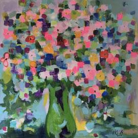 Mille Fleurs 2 (100x100cm), Acryl auf Leinwand