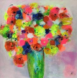 Mille Fleurs 4 (80x80cm), Acryl auf Leinwand