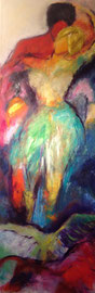 Tanzpaar (50x150cm), Öl auf Leinwand