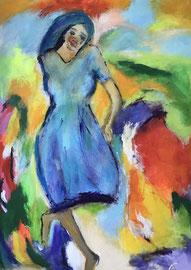 Maria (100x120cm), Acryl auf Leinwand