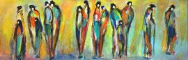 Galerie (30x90cm), Acryl auf Leinwand