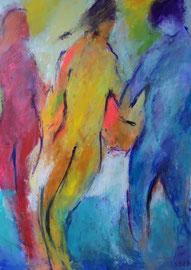 Trio (50x70cm), Acryl auf Leinwand