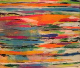 Spektrum (120x100cm), Acryl auf Leinwand