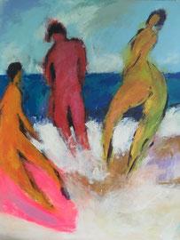 Pink Board (80x100cm), Acryl auf Leinwand