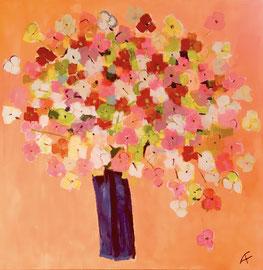 Mille Fleurs 3 (100x100cm), Acryl auf Leinwand