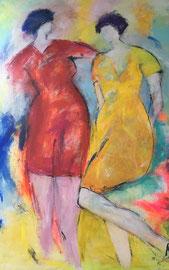 Einverständnis (80x100cm), Acryl auf Leinwand