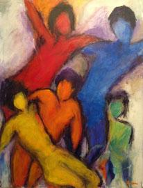 Tanz (70x90cm), Öl auf Leinwand