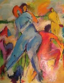 Blawand (100x120cm), Acryl auf Leinwand