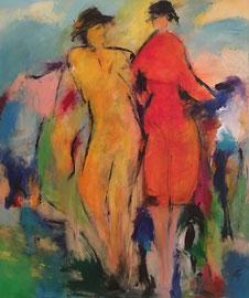 Das Paar (100x120cm), Acryl auf Leinwand