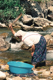 Lavandière, Nemrut Dagi, Turquie 1991