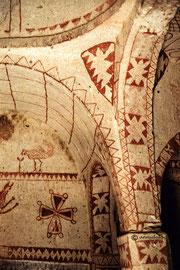 Cappadoce, égise peinte en négatif, VI s. Turquie 1983