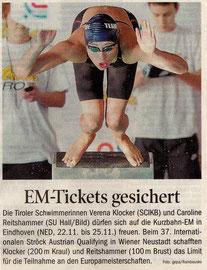 15. Nov. 2010: Tiroler Tagesblatt