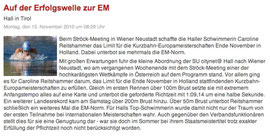 15. Nov. 2010: Haller Blatt