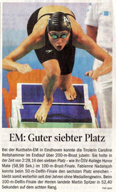 27. Nov. 2010: Tiroler Tageszeitung