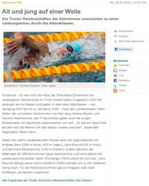 05. Juli 2010: Tiroler Tageszeitung online