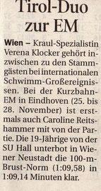 14. Nov. 2010: Tiroler Tageszeitung