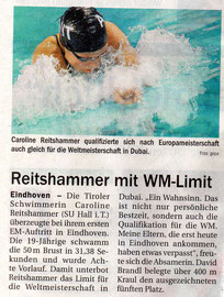 26. Nov. 2010: Tiroler Tagesblatt