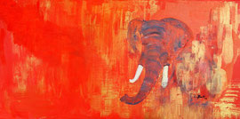Lady in Red, Acryl, 120x60, verkauft