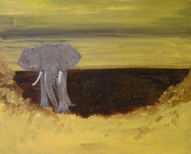 Elefant, Acryl, verkauft