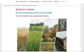 Capture d'écran d'un extrait de la page sur Garchy en photos du site de Garchy réalisée par Cloé Perrotin via E-Bourgogne de Territoires Numériques
