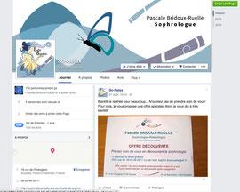 Profil Facebook et avatar de Pascale Bridoux-Ruelle la sophrologue de Bulle de Sophro créés par Cloé Perrotin de l'entreprise Illustr'&vous
