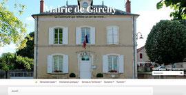 Capture d'écran du header du site de Garchy réalisée par Cloé Perrotin via E-Bourgogne de Territoires Numériques