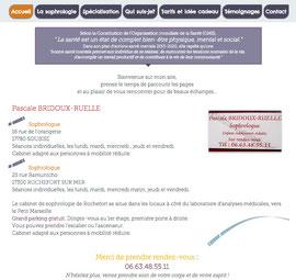 Utilisation de l'extrait graphique du logo pour la présentation du site de Pascale Bridoux-Ruelle la sophrologue de Bulle de Sophro par Cloé Perrotin de l'entreprise Illustr'&vous