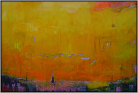 northern sunset   canvas 100 cm / 150 cm