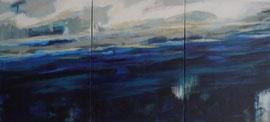 westwind I - III  canvas 40 cm / 30 cm   Tryptichon 40 cm / 120 cm