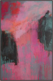 think pink I  canvas  150 cm / 100 cm