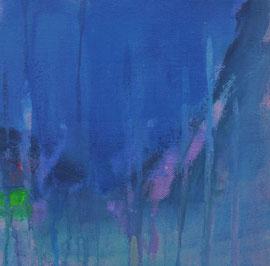 blue monocrome 2  canvas  20 cm / 20 cm
