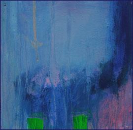 blue monocrome 1  canvas  20 cm / 20 cm