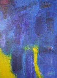 into the blue  canvas  80 cm / 60 cm