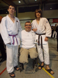 Yann (à gauche) et ses amis Michel BOUDON et Simon Jéhan