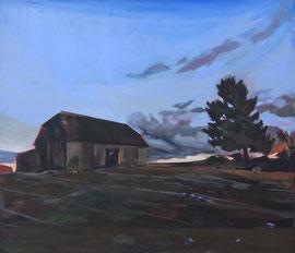 WOLTERSMÜHLEN, 140cm x 120cm, Acryl & Egg Tempera on Canvas
