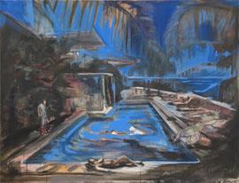 LE BLEAU   170cm x 130cm Acryl & Egg Tempera on Canvas, sold